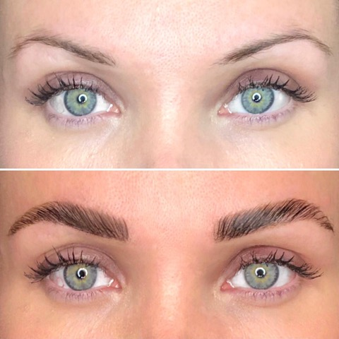 The London Brow Company before & after