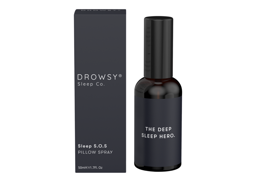 Drowsy pillow spray night-time treatment for overnight use